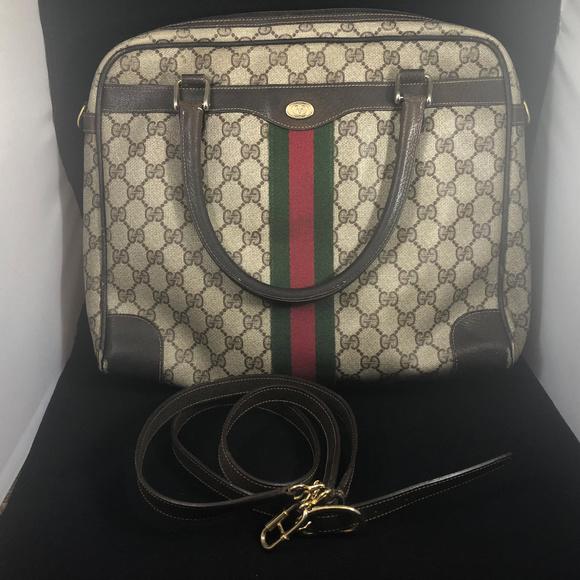 4acd67191158 Gucci Bags | Video Authentic Vintage Monogram Travel Bag | Poshmark